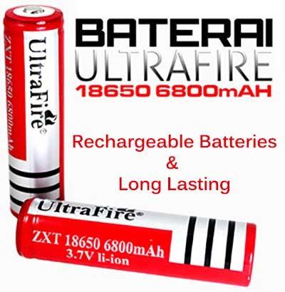 harga Baterai rechargeable 18650 3.7v 6.800 6800mah powerbank power bank Tokopedia.com