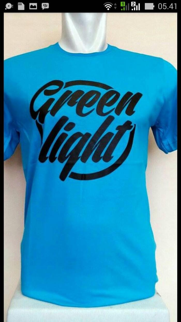 Kaos Pria/Tshirt Green Light (blue Turkis)