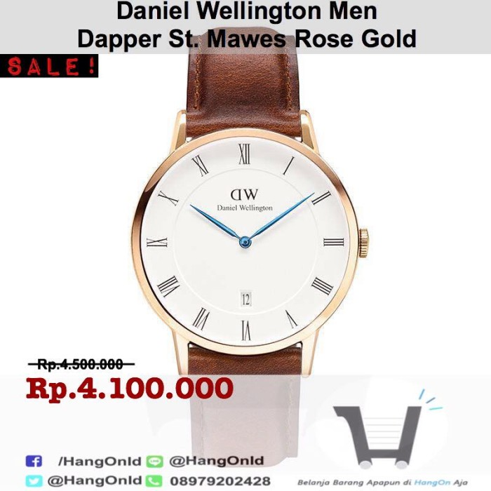 Jam Tangan Daniel Wellington Men Dapper St Mawes Rose Gold