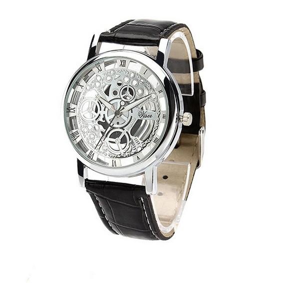 harga Jam tangan skeleton transparan tembus pandang kulit analog watch cowo Tokopedia.com