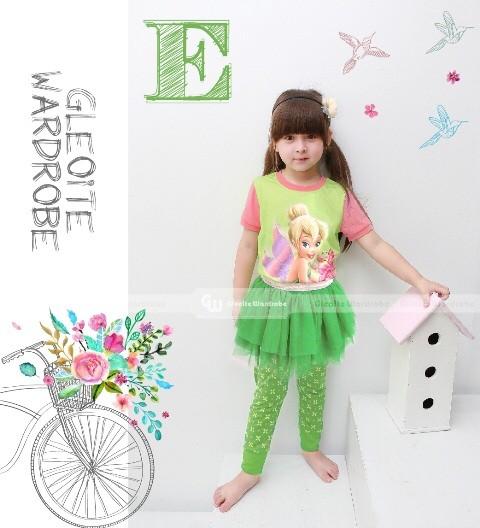 harga Piyama Tutu Dress Gw-123 E: Tinkerbell (2-7 Tahun) Tokopedia.com