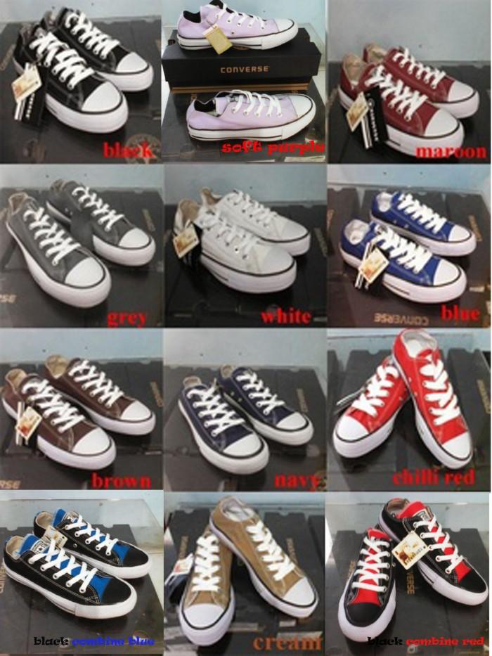 Jual Sepatu Converse All star Black - Grosir Sepatu Tangerang ... bde3ddf185