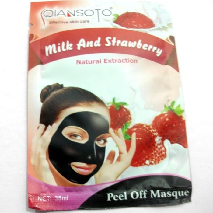 Masker Susu & Stroberi Qiansoto Milk & Strawberry 35ml