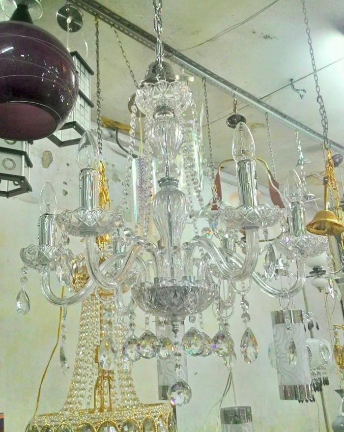 harga Lampu gantung kristal lilin cabang 6 Tokopedia.com