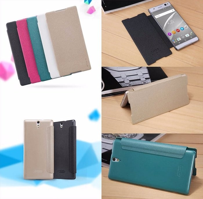harga Nillkin sparkle leather case sony xperia c5 ultra - c5 ultra dual Tokopedia.com