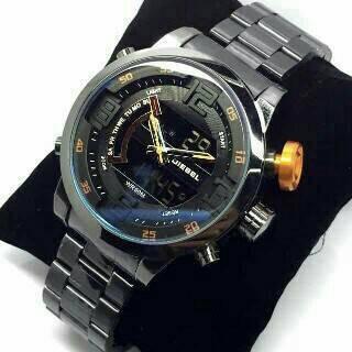 Jual JAM TANGAN PRIA DIESEL RANTAI DUAL TIME - sarang arloji shop ... 6839f6c1a2
