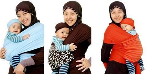 Jual Gendongan Bayi Baby Wrap Motif Pelangi Hanaroo Babywrap