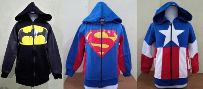 harga Jacket / jaket anak lucu remaja abg sweater - jaket hoodie superhero Tokopedia.com