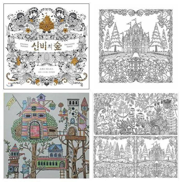 Coloring Book Buku Mewarnai Anti Stress Enchanted Forest