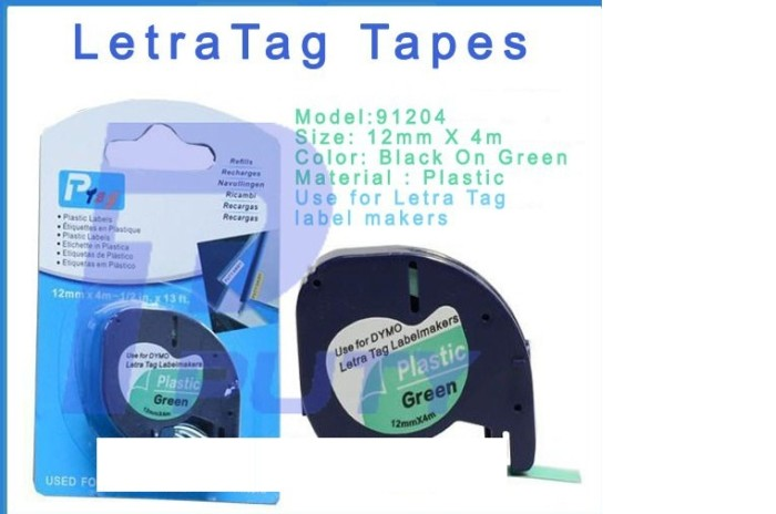harga Pita label dymo - colored plastic tapes for letratag Tokopedia.com