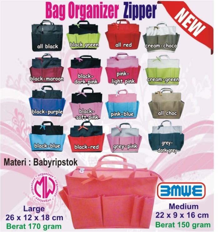 Hand Bag Organizer Zipper Large Tas / Handbag Organizer In Bag