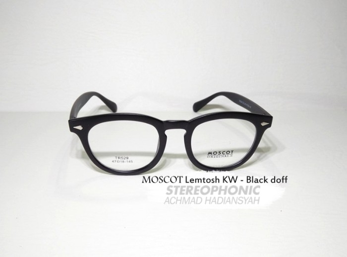 TERMURAH! Kacamata MOSCOT   Frame MOSCOT Lemtosh KW - Frame Hitam doff 9d61674676