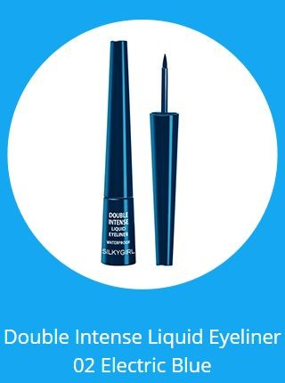 ... SilkyGirl Eyeliner Double Intense Liquid Black Blue GE0220