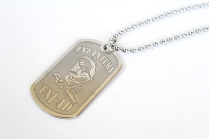 harga Kalung tni ad infanteri / kopasus monel silver - kalung dog tag name Tokopedia.com
