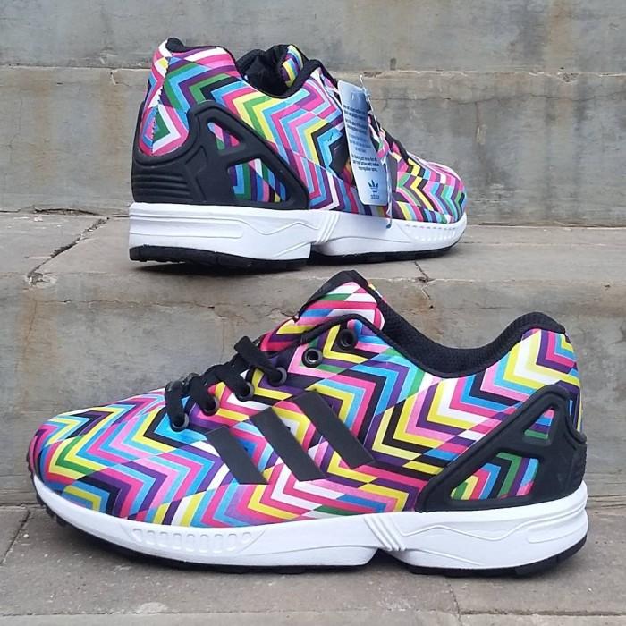 3e698b1c228d1 ... discount sepatu adidas zx flux women premium rainbow 96304 d7dcf