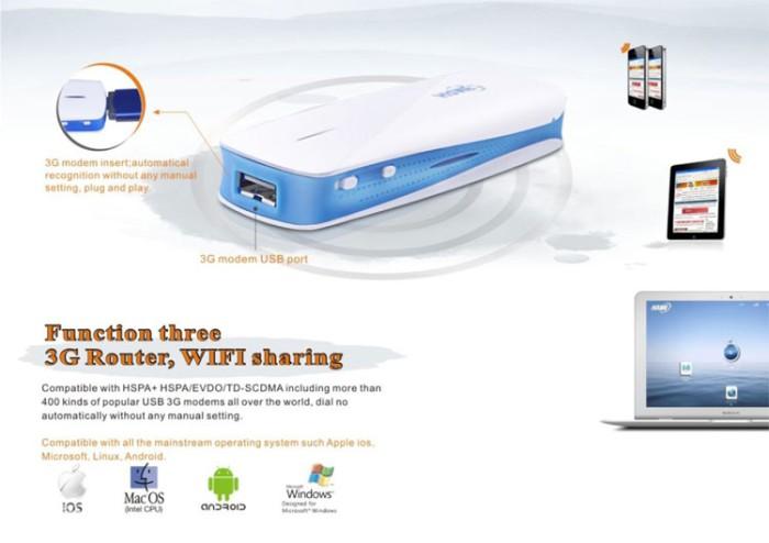 harga Hame a1 - 3g mobile power router + power bank 1800mah - hame mpr-01 Tokopedia.com