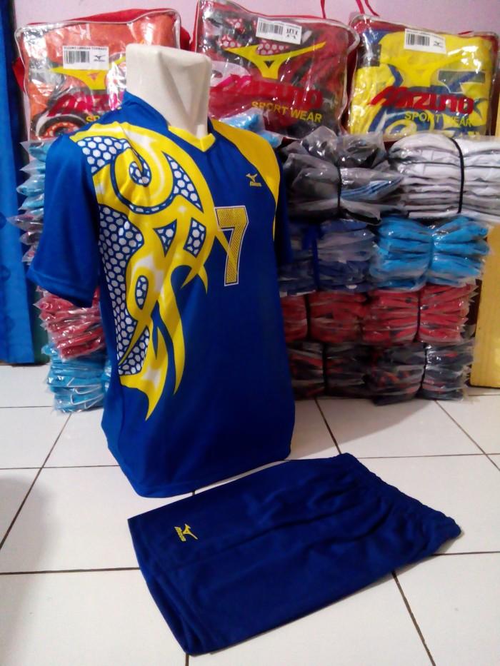 Jual KostumSetelan Volly Mizuno Batik Lusinan1 set murahgrosir