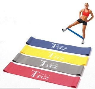 harga Promo 1 set(4 level) tension resistance band exercise loop fitness gym Tokopedia.com