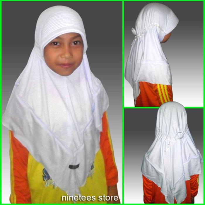 f61694962f10fb Jual jilbab putih seragam sekolah kerudung sd smp cek harga di ...