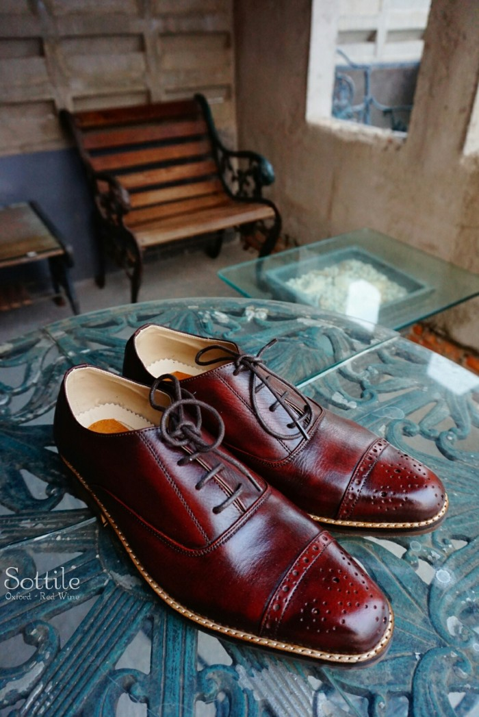 harga Sottile sepatu kulit oxford leather shoes - red wine / coklat classic Tokopedia.com