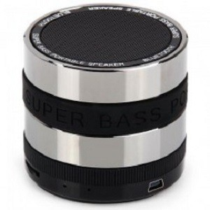 harga Speaker bluetooth portable ori mini metal super bass-s302-black belt Tokopedia.com