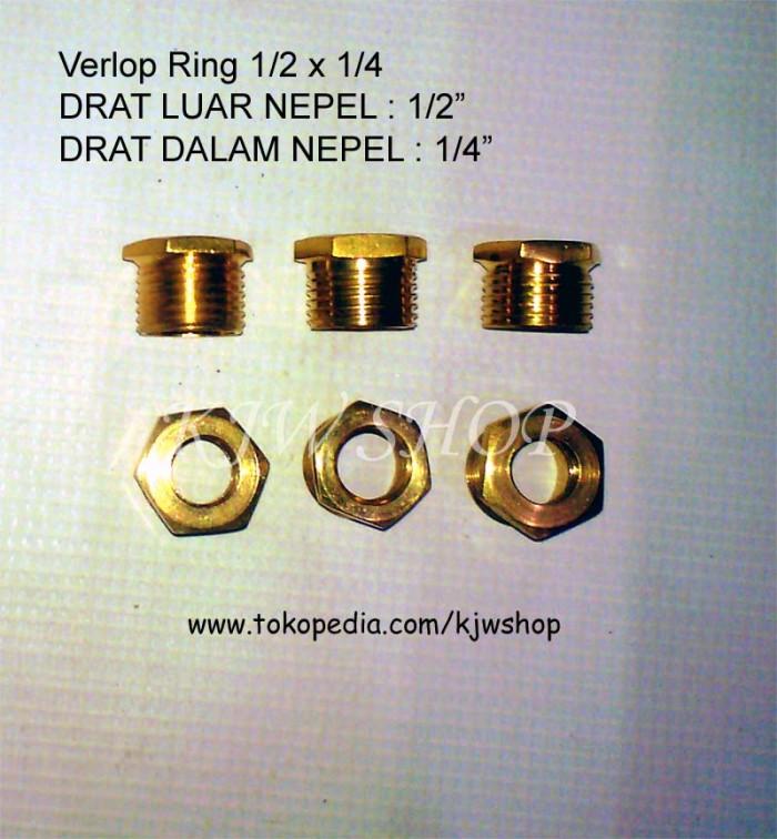 Foto Produk VERLOP RING KUNINGAN 1/2 X 1/4 dari KJWShop