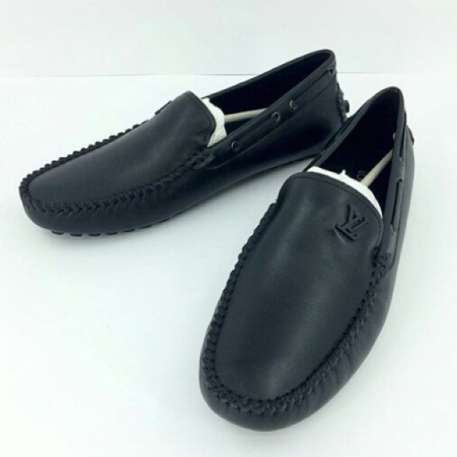 Jual JUAL SEPATU LV LOUIS VUITTON LOAFERS LEATHER HITAM MIRROR ... 6e3f659cad