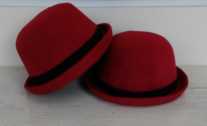 277b0c68710 Jual Topi Caplin Dewasa   Bowler Hat Charlie Chaplin Lokal - Merah ...