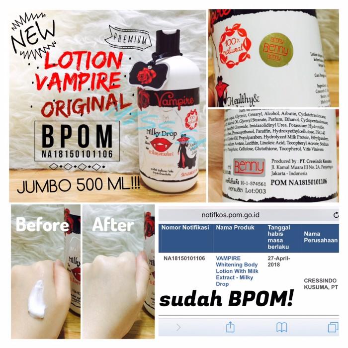 [500ml] BPOM Lotion Vampire Jumbo / milky drop white lotion original