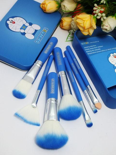 harga Brush / kuas make up doraemon isi 7pcs / 7 pcs / 7 piece - kaleng