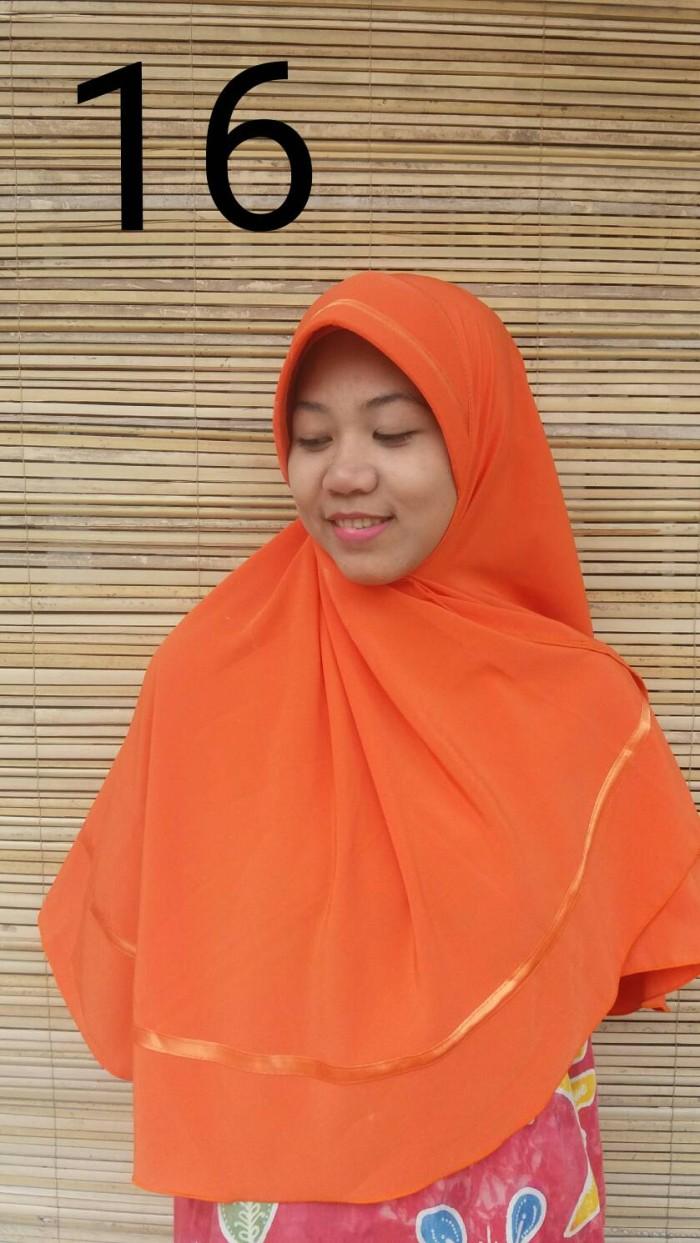 Jual Hijab Instan Wolfis Jilbab Wolvis Khimar Wolpeach Orange Kerudung Oren