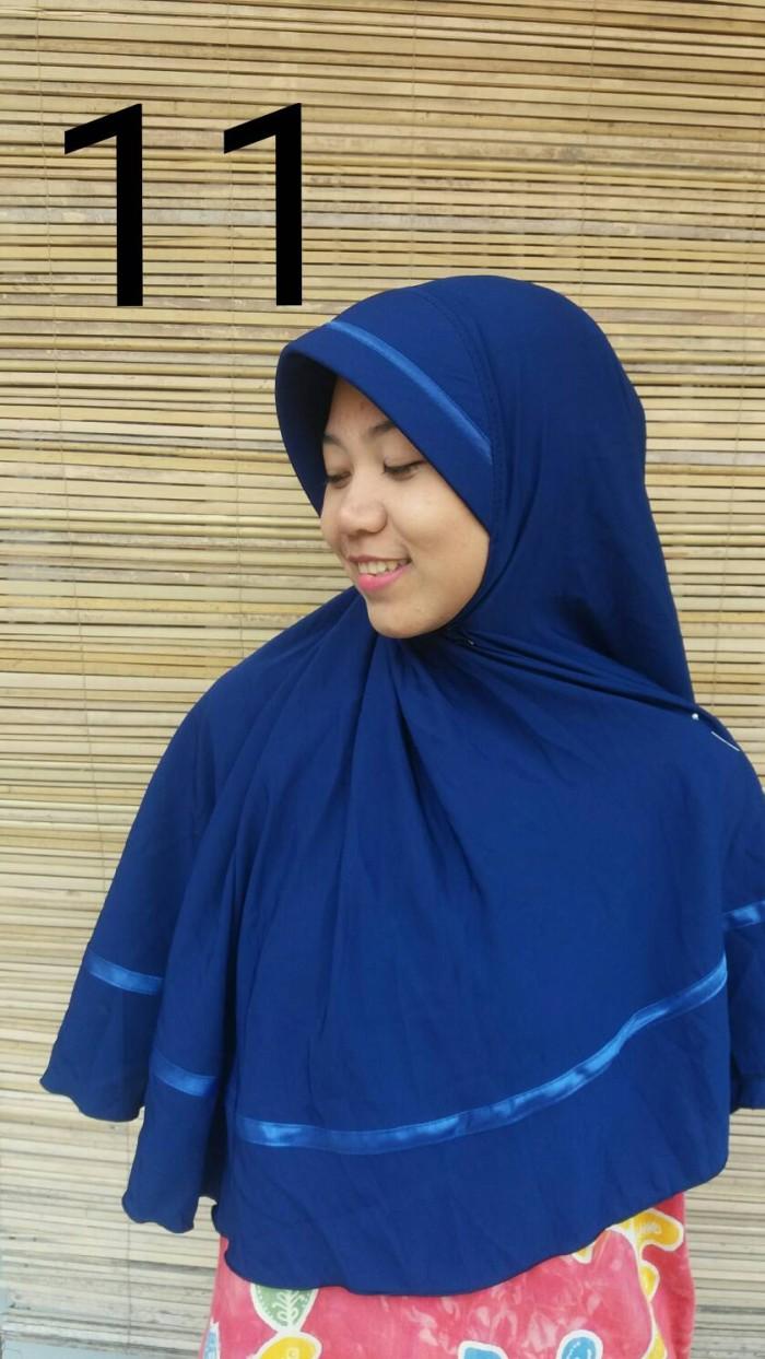 Jual Hijab Instan Wolfis Jilbab Wolvis Khimar Wolpeach Biru Tua Kerudung