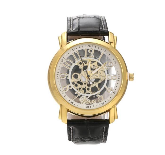 harga Skeleton slim jam tangan transparan tembus pandang kulit watch cowo Tokopedia.com