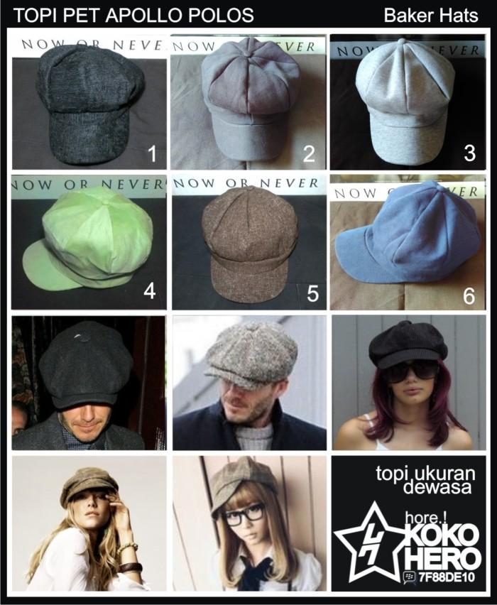 harga Topi pet paper boy hat newsboy cap topipet apolo mario bros polos Tokopedia.com