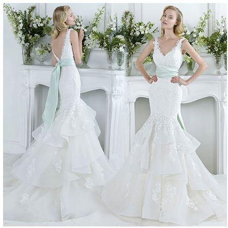 Jual Fsttd001 Gaun Pengantin Duyung Fishtail Double Layered Wedding