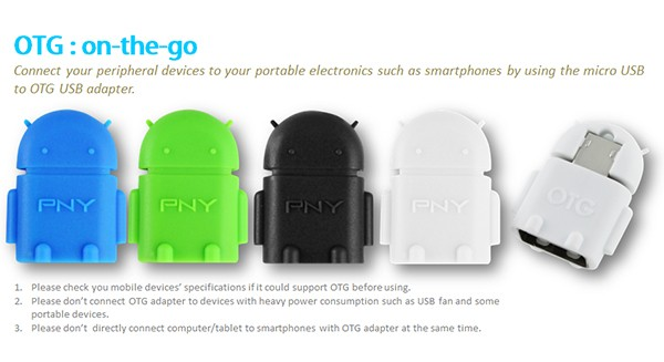 Otg adapter pny android robot (flashdisk to mobile phone/smartphone)