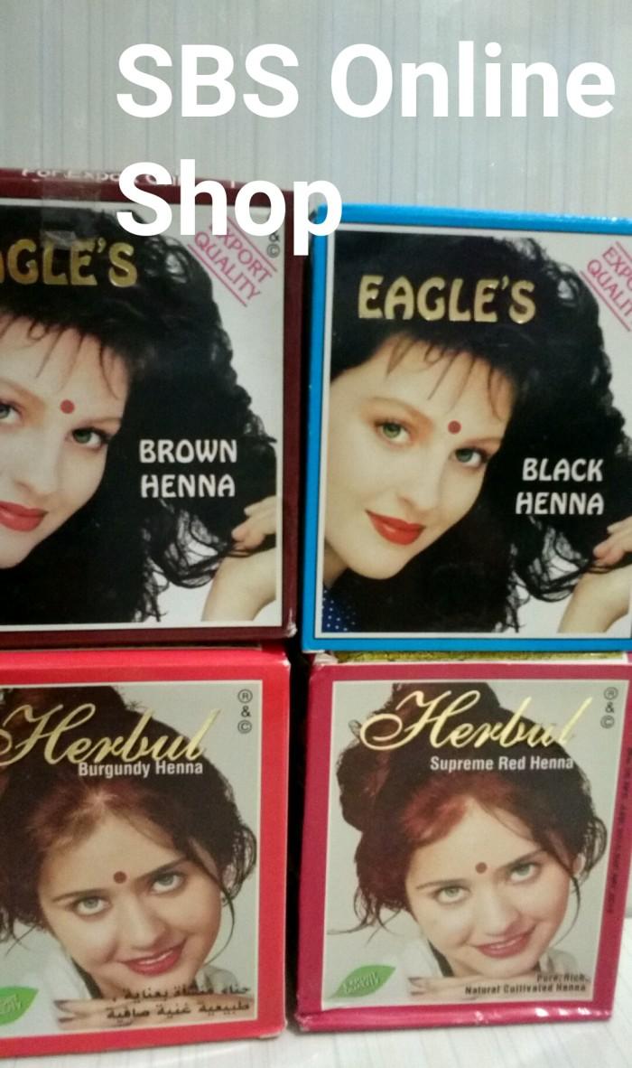 Jual Henna Cat Rambut Eagle Herbul Box Isi 6 Shacet Shine