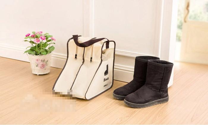 Pendek tas tempat simpan sepatu boots high heels sepatu olah raga