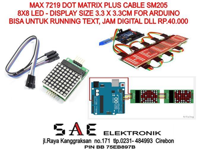 harga Modul max7219 dot matrix 8x8 untuk running text/jam digital dll Tokopedia.com
