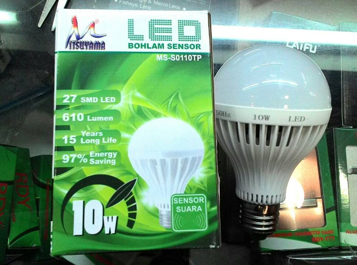 LAMPU LED SENSOR TEPUK | BOHLAM LED SENSOR SUARA 10 WATT