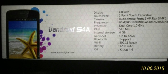 ADVAN VANDROID S4A 3G, NEW QC. SPECIAL PRICE.
