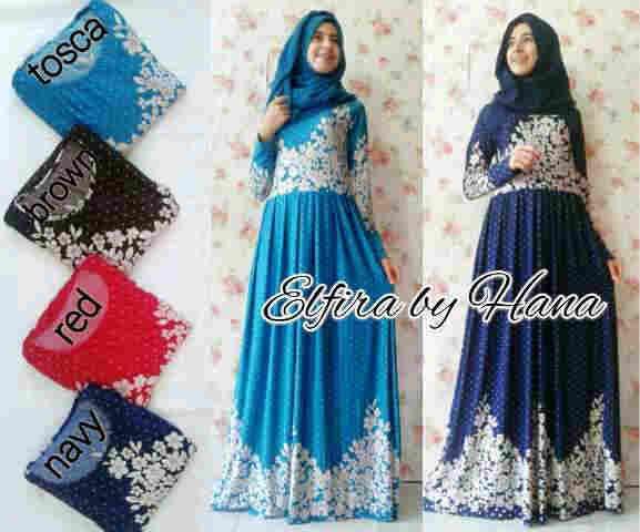 Grosir maxi dress terbaru muslimah