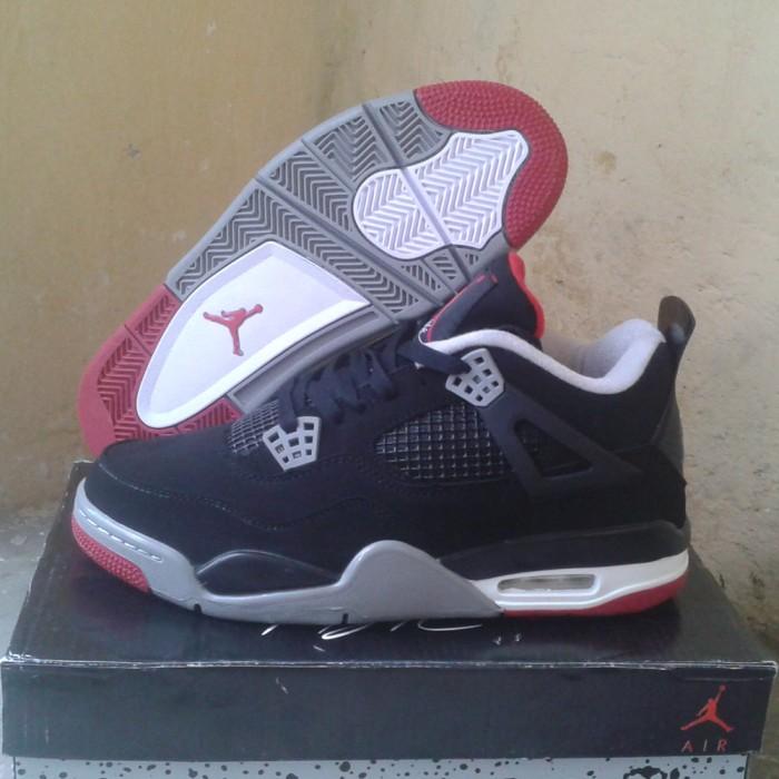 Jual Sepatu Basket Air Jordan 4 Bred - Customizer Printing  53f0c1138b