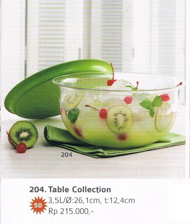 Blossom Table Collection 35 L Hijau Tupperware Promo Harga