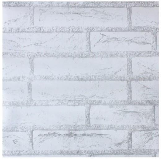 jual wallpaper sticker batu bata putih 10 meter - kota tangerang