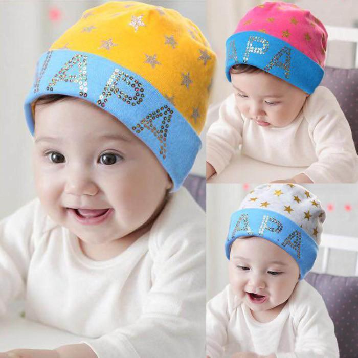 Topi Kupluk Anak Bayi Laki-laki Perempuan Bahan Kaos Katun Bagus