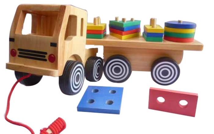 Foto Produk Truk Geometri Besar,mainan edukatif edukasi anak SNI kayu murah balok dari Edukasi Toys
