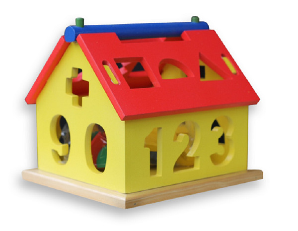 Foto Produk Rumah Pas angka Besar, mainan edukatif edukasi anak SNI kayu murah TK dari Edukasi Toys