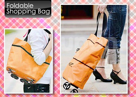 harga Tas belanja lipat roda / trolley cart shopping bag foldable Tokopedia.com