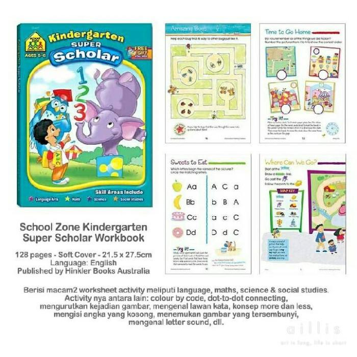 Jual School Zone Kindergarten super scholar workbook - Kab  Bandung -  lesnasius buku anak   Tokopedia